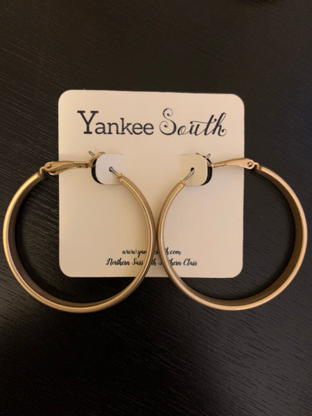 YS Gold Matte Small Hoops