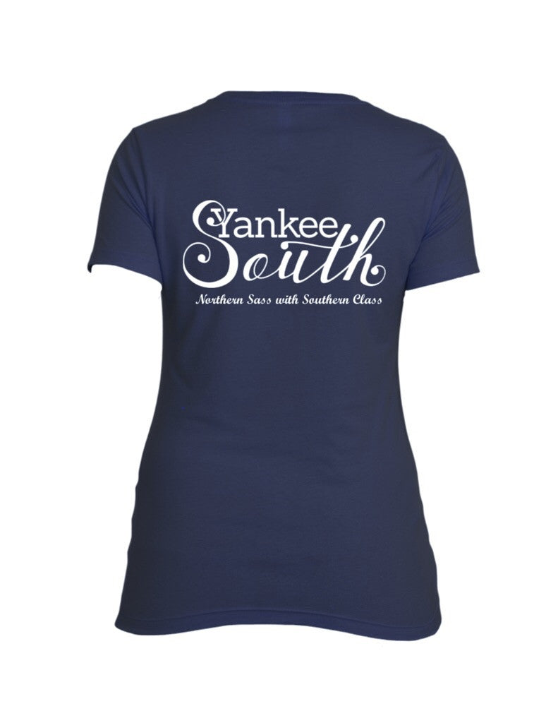 Yankee South Signature Navy T-Shirt (Women's) - Yankee South