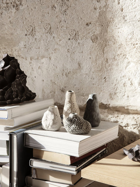 Ferm Living -Vulca Mini Vase - Off-white Stone