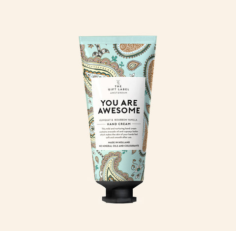 Hand cream tube - You are awesome