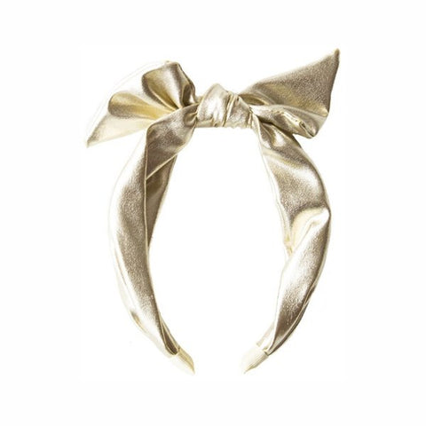 Gold Shimmer Tie Head Band