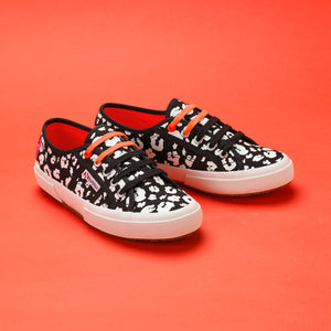 Superga X Scamp & Dude: Black adult trainers
