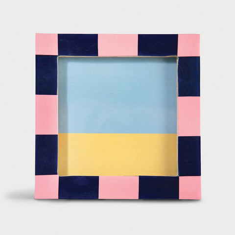 & Klevering:  Photo frame check square pink
