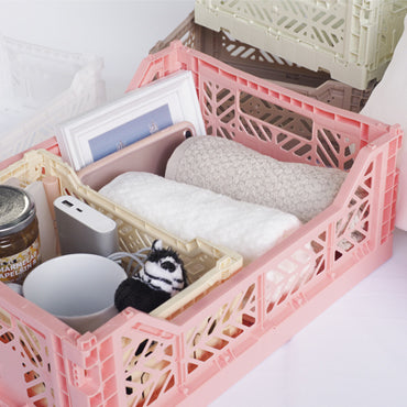 Folding Crate - Mini - Salmon Pink