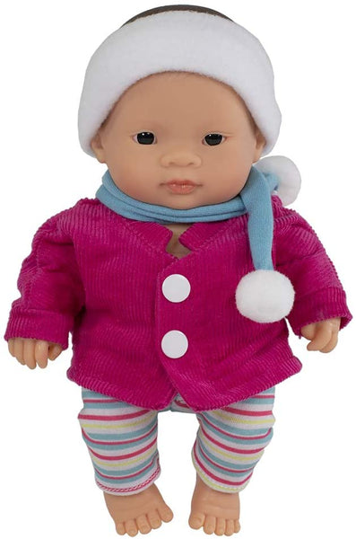 Miniland baby doll - Girl with clothes