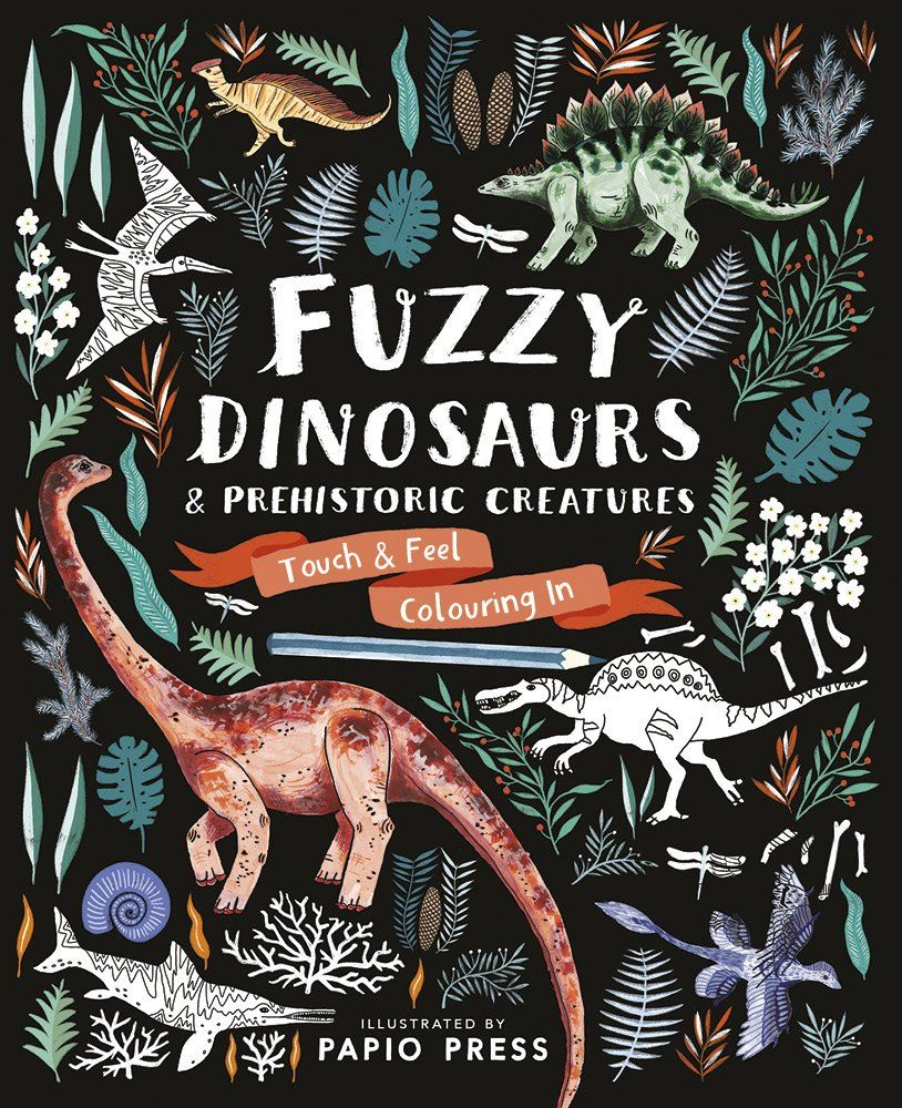 FUZZY DINOSAURS (TOUCH AND FEEL COLOURING IN)