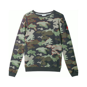 Adult Super Soft Sweatshirt Khaki Camo Print