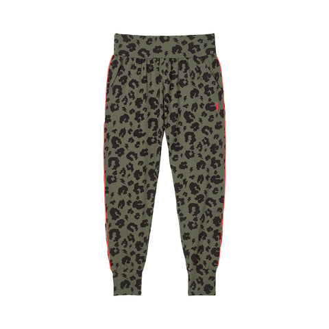 Adult Slouch Joggers Khaki Leopard and Lightning Bolt Print