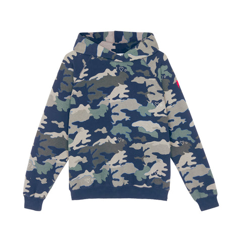 Scamp & Dude: Adult super soft hoodie - navy camo