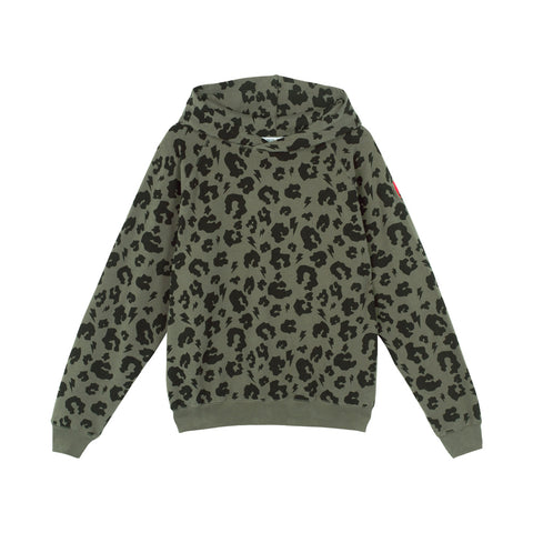 Scamp & Dude: Adult super soft hoodie - khaki leopard and lightning bolt
