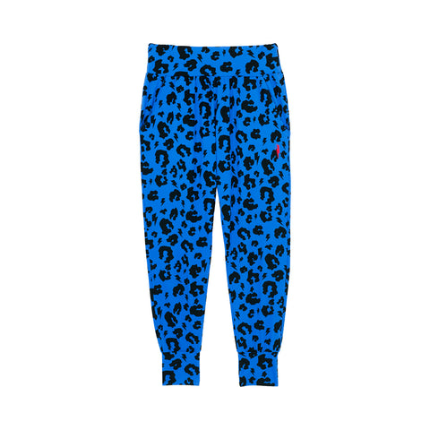 Adult Slouch Joggers - Electric blue Leopard and Lightning Bolt