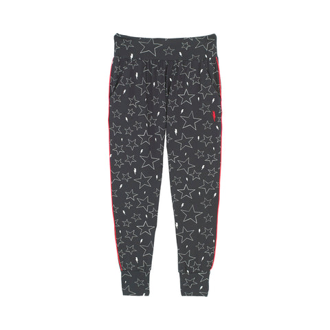 Adult Slouch Joggers - Dark grey with white star print