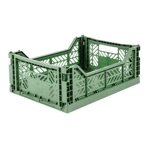Folding Crate - Medium - Almond Green