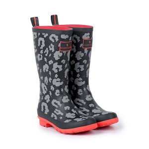 SUPERCHARGED KIDS LEOPARD PRINT WELLIES