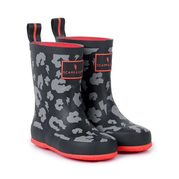 SUPERCHARGED TODDLER LEOPARD PRINT WELLIES
