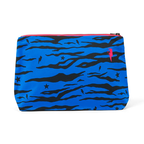 Swag Bag - Electric blue tiger print