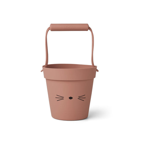 Linda / Bucket - Cat dark rose