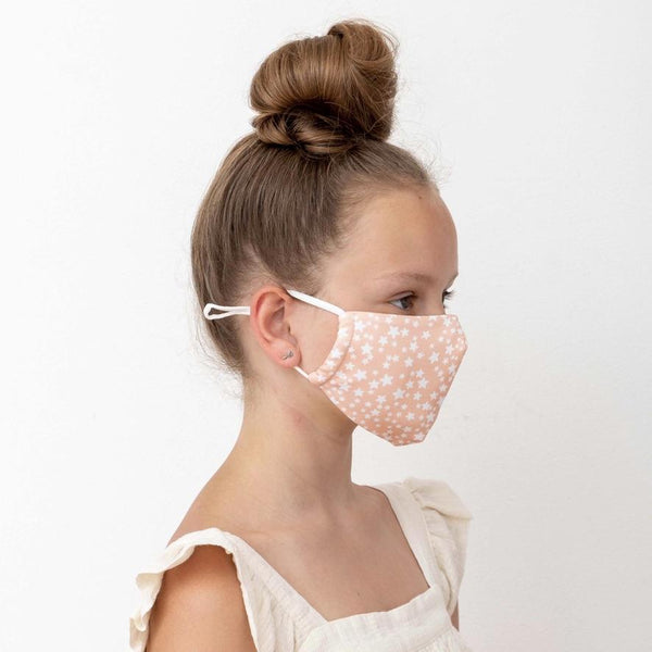 Child star print face mask-pink