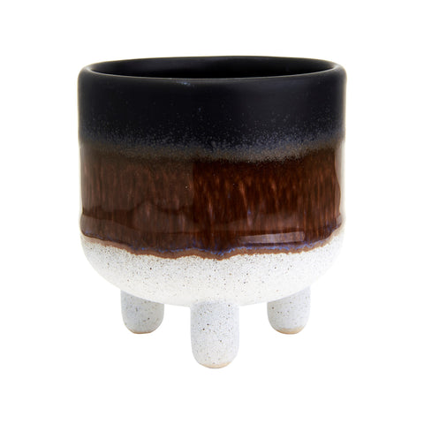 Mini - Mojave Glaze Planter - Black