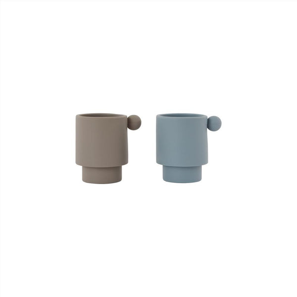 Tiny Inka Cup  - Dusty Blue/Clay