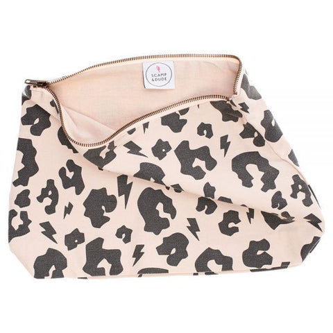 Leopard Print Swag Bag - Peach