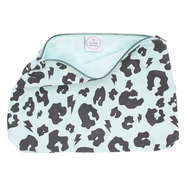 Leopard Print Swag Bag - Pale Green