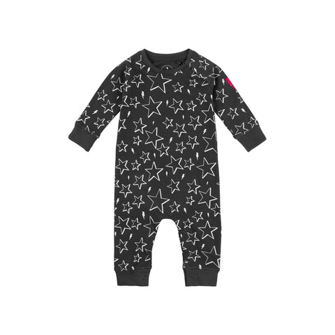 Baby romper - Grey & White star