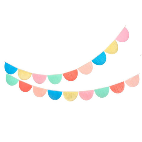 Meri Meri: Rainbow tissue paper scallop garlands