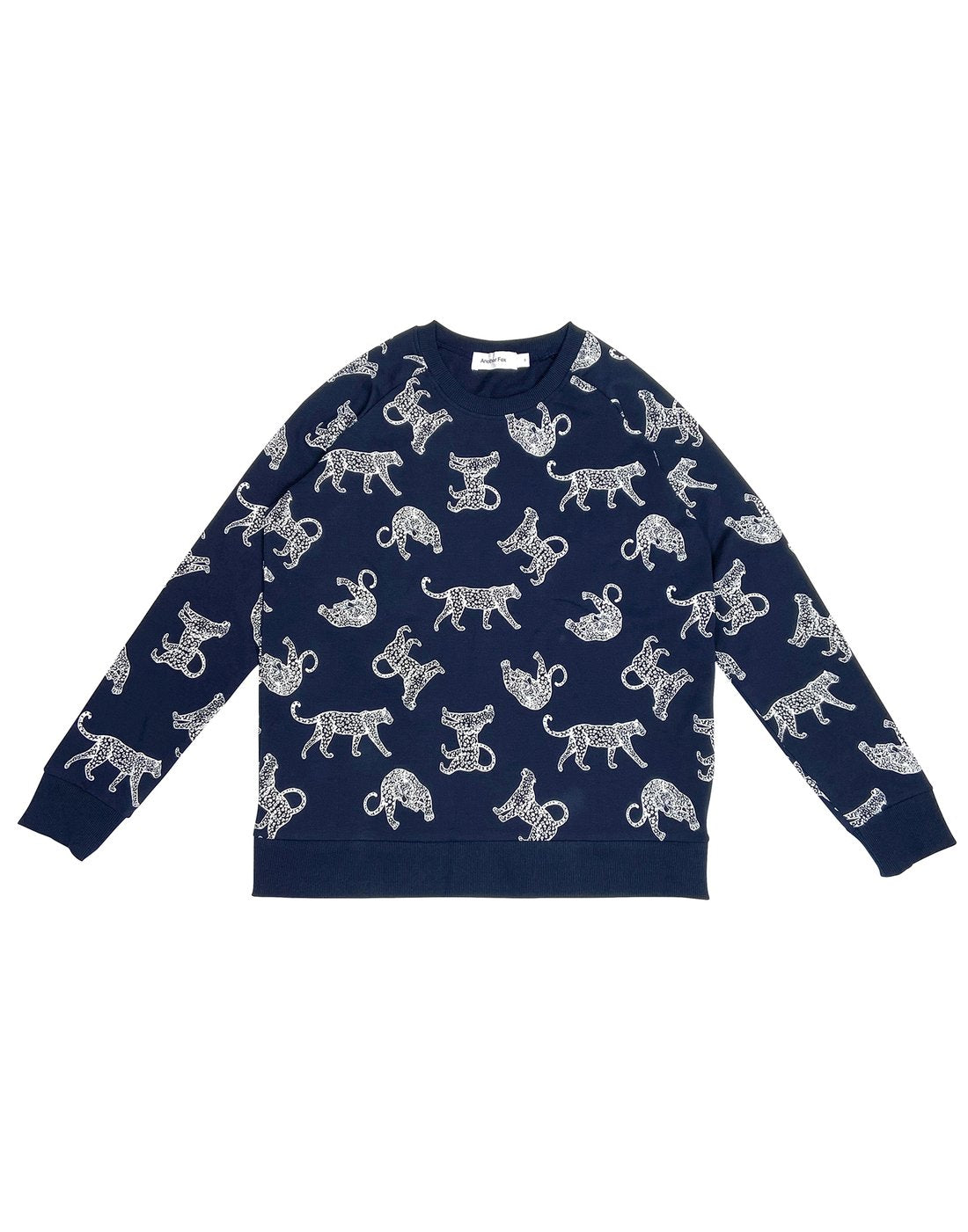 Adult - Navy Leopard Sweatshirt