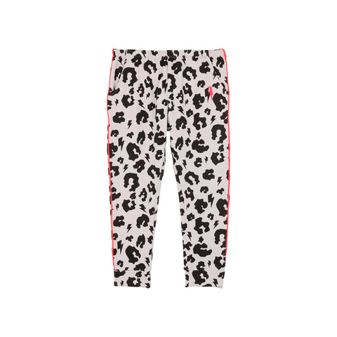 Scamp & Dude: Cool kids joggers - pale grey leopard and lightning bolt