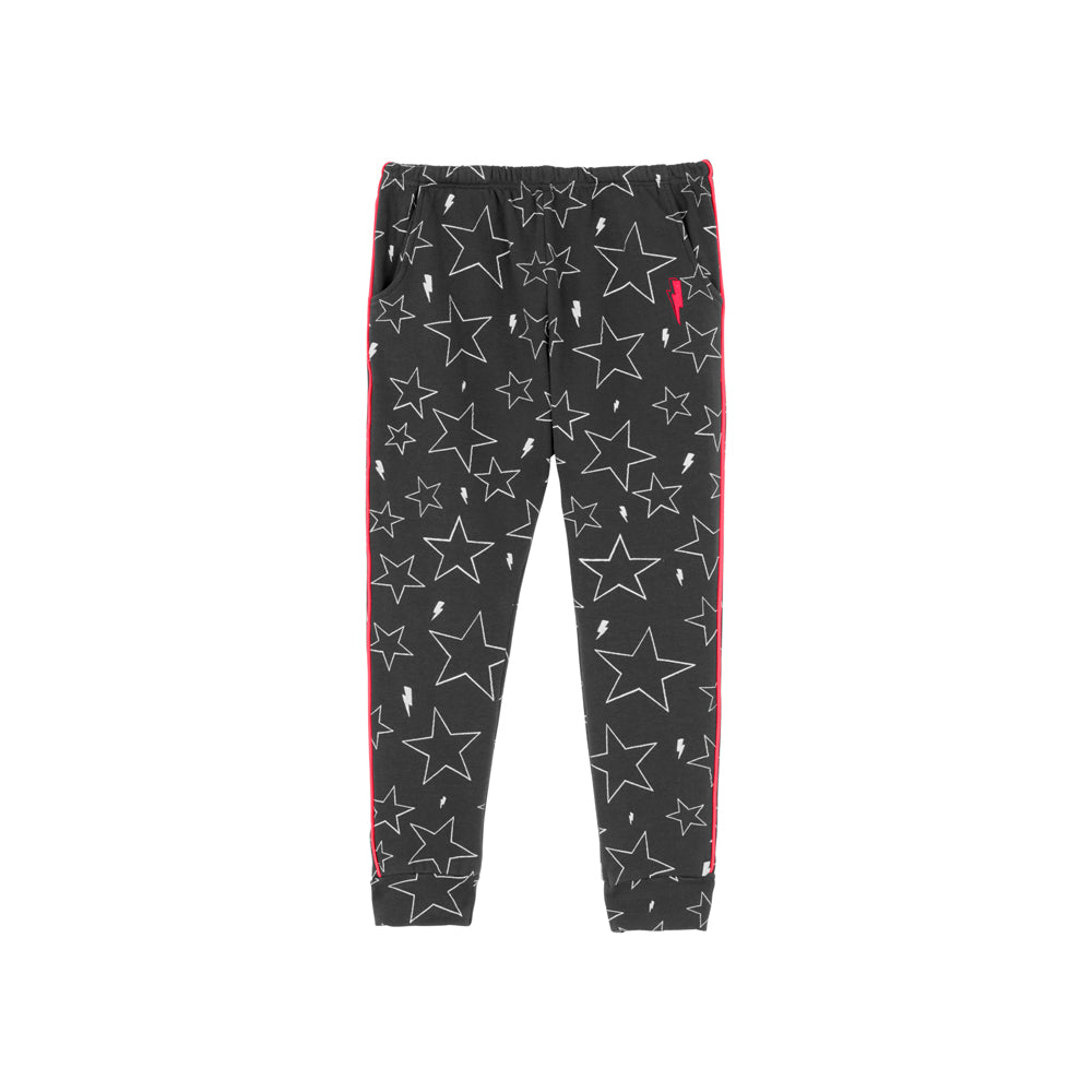 Scamp & Dude: Kids joggers - dark grey with star and lightning bolt print