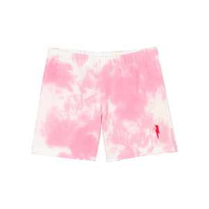 Kids Pink and white tie dye super soft shorts