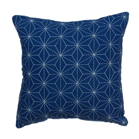 Stitch Print Blue Cushion