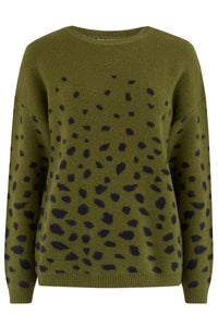 Livvy abstract spot sweater - green