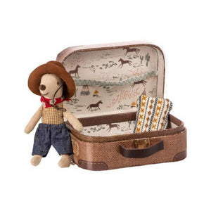 Maileg: Cowboy In Suitcase – Little Brother Mouse