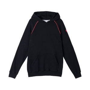 Scamp & Dude: Men's hoodie - black with neon piping
