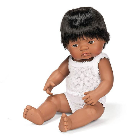 Miniland baby doll Hispanic boy 38cm