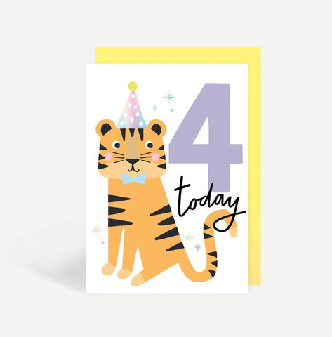 Four Today Birthday Card