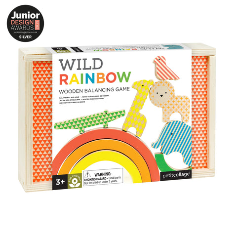 Petit Collage Wild Rainbow Wooden Balancing Game