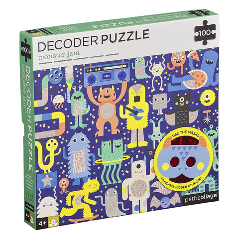 Petit Collage Monster Jam Decoder Puzzle