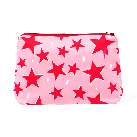 Pink with red star and lightning bolt print Swag Bag