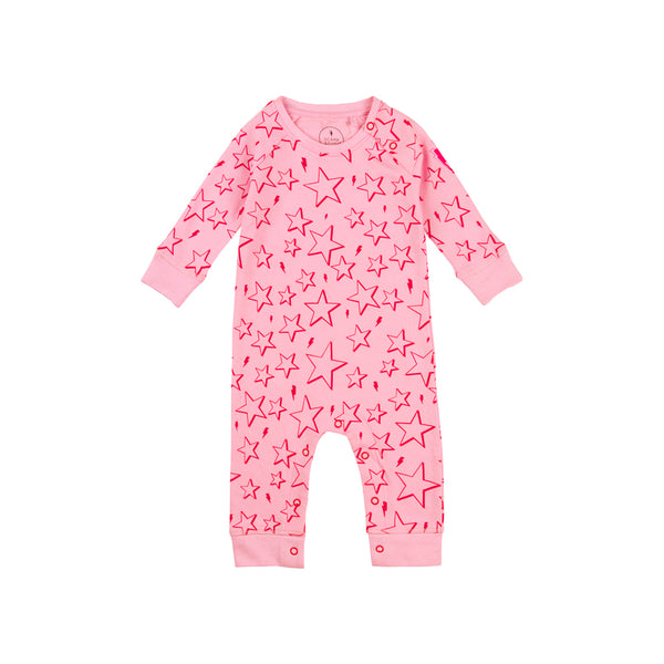 Baby romper - Pink & Red star
