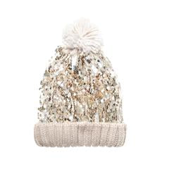Super Sequin Bobble Hat Gold