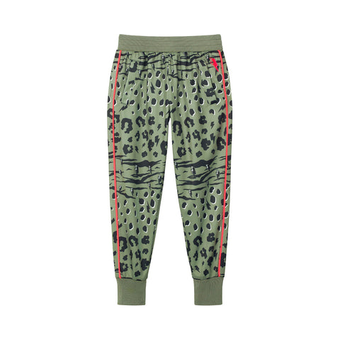 Kids Retro Tracksuit Bottoms - Khaki