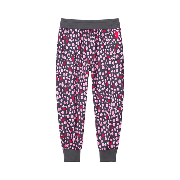 Kids Retro Tracksuit Bottoms - Pink