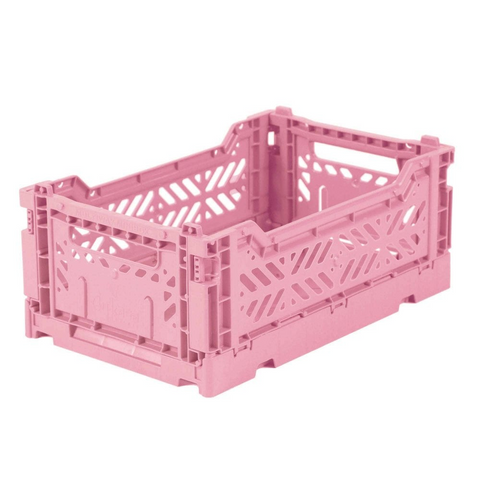 Aykasa: Folding Crate - Mini - Baby Pink