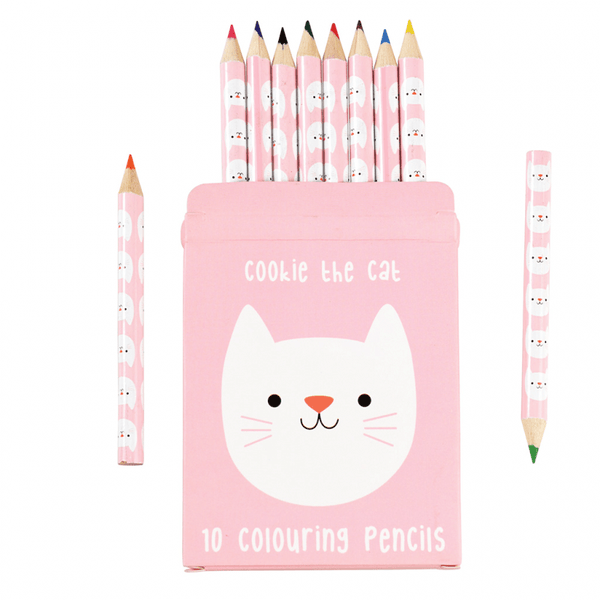 Cookie the cat colouring pencils (set of 10)