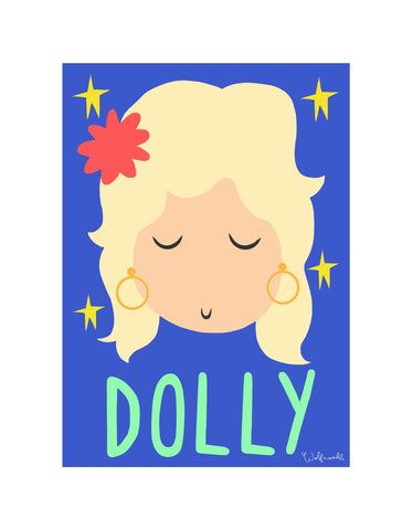 Wolfnoodle: Dolly A4 print