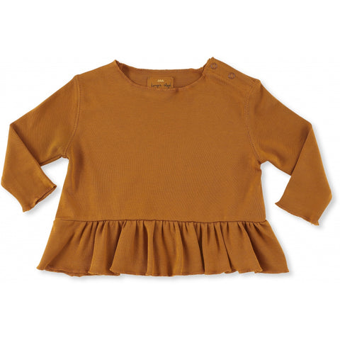 Ebi Frill Top - Dark Honey