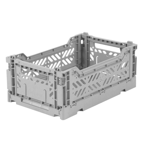 Folding Crate - Mini - Grey